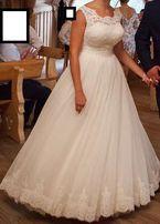 Piękna suknia ślubna Anna Sposa Michel, ivory-śmietankowa
