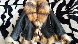 куртка кожаная с лисой