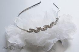 Ślubna opaska FOGLIA listki ozdoba do włosów stroik ślubny