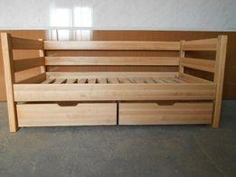 Кровать детская подростковая из натурального дерева Нотка