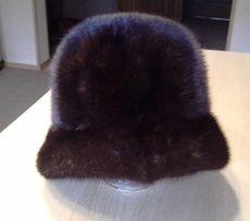 норковая шапка новая темно коричневая р 58