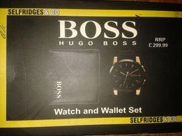 Ekskluzywny zestaw Hugo Boss, portfel+zegarek.