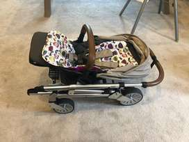 Mammas and Pappas Set. Includes Stroller, Carrier and feeding chair