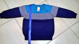 sweterek dla dziecka, granatowy, baby club, nowy, rozm74, stan idealny