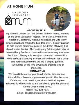 At Home Mum Laundry Services (Wellington, WC)