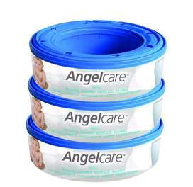 Angelcare Nappy Bin Refill - Set of 3. New