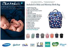 Baby and Mommy Birth Nappy Bag Combo