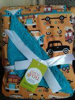 Уютный двухслойный флисовый плед одеяло для малышей