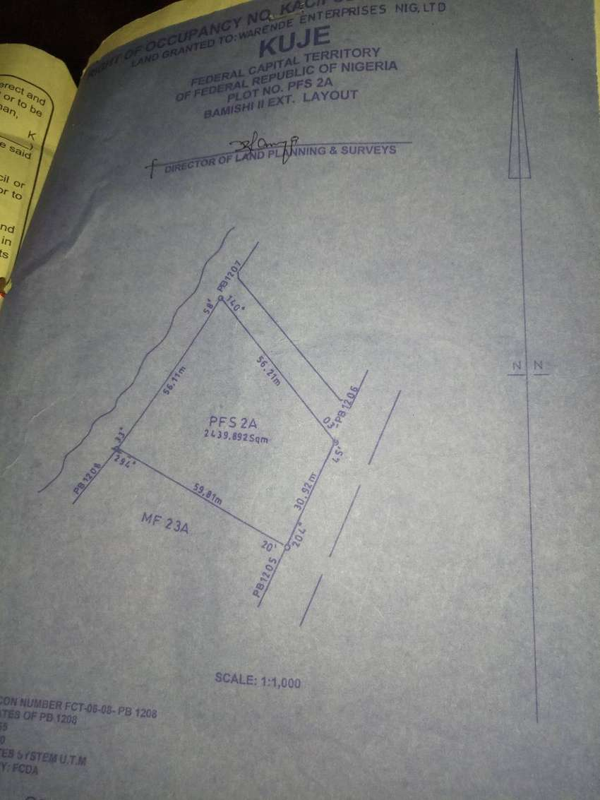 Land for sale in kuje Abuja airport road 0