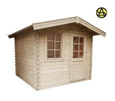 Domek ogrodowy świerkowy drewniany 28 narzędziowy 2,6x2,6 askor odRęki