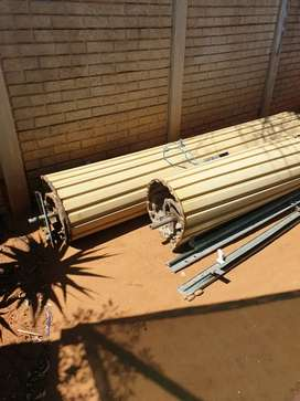 2 x garage doors, used but in good condition