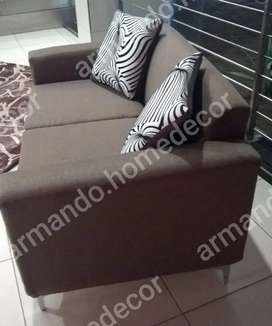 New brown fabric couch
