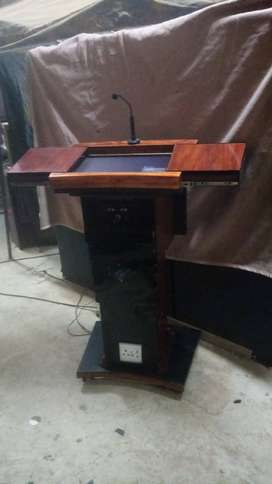Custom Designed Full Electronic Wooden Pulpit Cost Price
