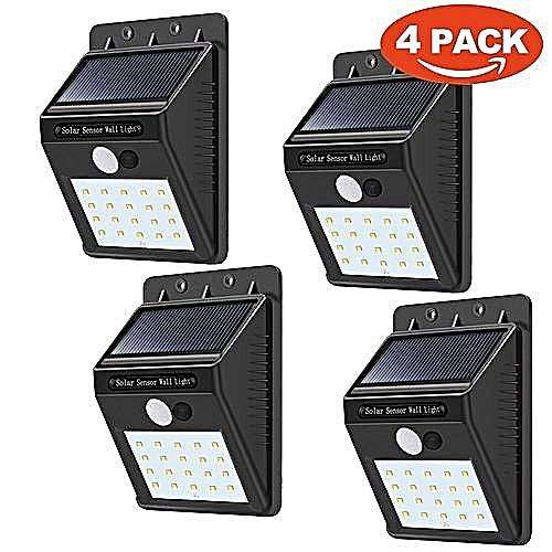 4 pack 20 LED Solar motion sensor 0