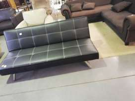 Leather sleeping couch