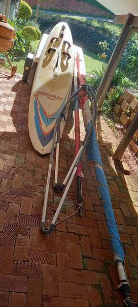 Wind surfing board with all accessories