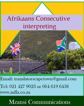 Afrikaans consecutive interpreters Durban