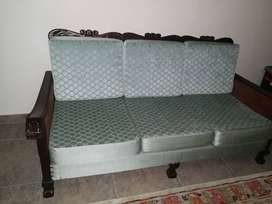 3 division wooden sofa