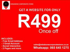 Get Websites from R499 and start selling online today