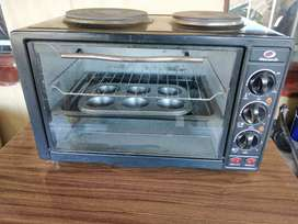 Electric two plate oven/stove