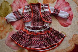 Продам украинский костюм на девочку 1-2 года.