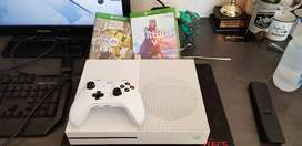 Xbox one S with 4 games