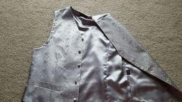 Kamizelka męska, srebrna rozmiar 52
