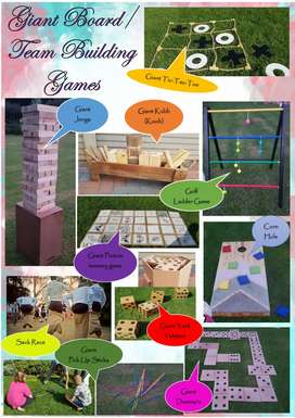 Giant lawn games for entertainment