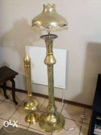 Image of Moroccan / Turkish Brass Lamp + Ornamental Lamp for sale