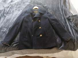 Men's Navy double breasted pea coat