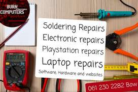 Electronic. Consoles and soldering