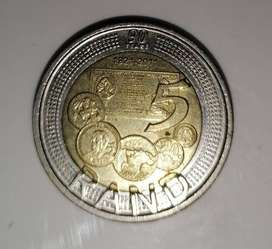 90 years R5 coin