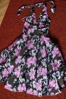 Sukienka DeFacto midi w stylu Marylin Monroe kwiaty za kolanko