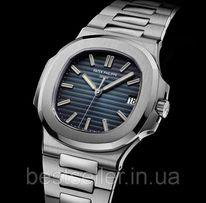 Часы Patek Philippe Nautilus 43mm silver/blue. Класс: ААА.