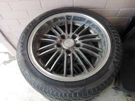"""17"""" A line mags with tyres"""