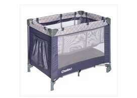 Baby camp cot with mattress and baby carrier