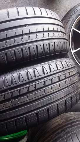 3 x205/40/17 Dunlop tyres for sale