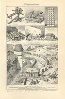 ARMATY, BROŃ reprodukcje XIX w. grafik do wystroju wnętrza