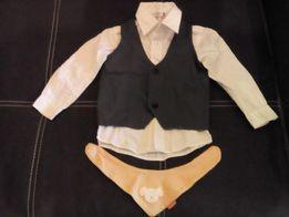 Комплект рубашка+жилетка+галстук