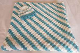 Baby Blanket and Beany Beautiful crocheted