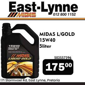 Midas Liquid Gold 5 Liter ONLY R175!