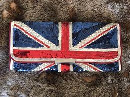 """Клатч """"Accessorize"""" в цветах британского флага (Union Jack)"""