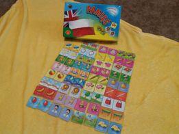 gra Pamięć po angielsku, gry edukacyjne do nauki języka angielskiego