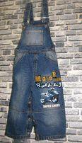 Детский джинсовый комбинезон для мальчика 1-1,5 года на рост 80-86 см