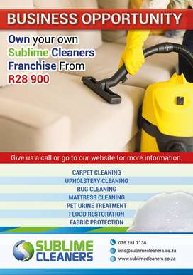 Sublime Cleaners Franchise Opportunity