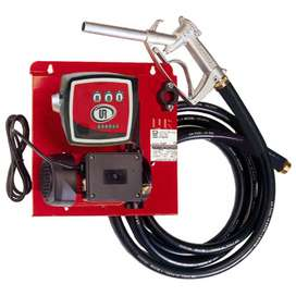 Diesel Transfer Pump Combo. Hoze, Nozzle & Meter. Wall Mounted.
