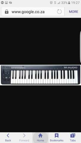 M.audio midi keyboard 49key Ne