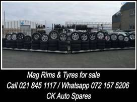 Mag, rims and tyres for sale for most vehicles make and models.
