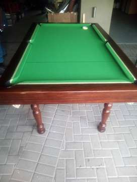 We do pool tables recovering