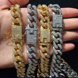 Ice Cuban Link Gold/Silver Chains